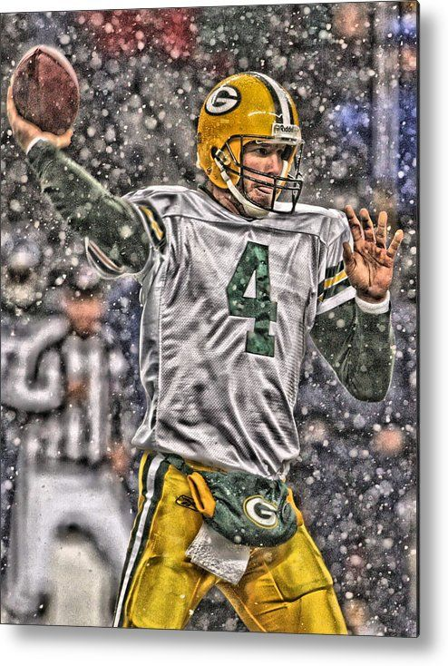 Brett Favre Green Bay Packers 2 Metal Print by Joe Hamilton