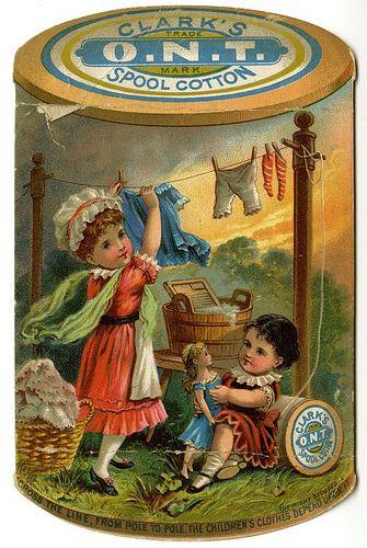 Clark's O.N.T. Spool Cotton, via Flickr.