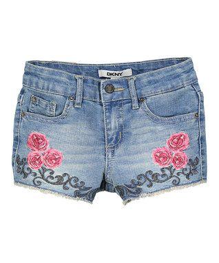 Light Vintage Floral Jean Shorts - Toddler & Girls