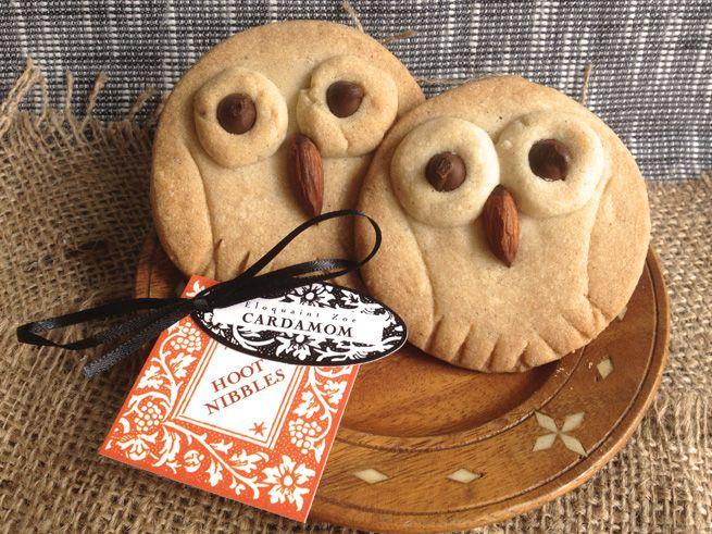 Hoot Nibbles: Cardamom Shortbread Cookies