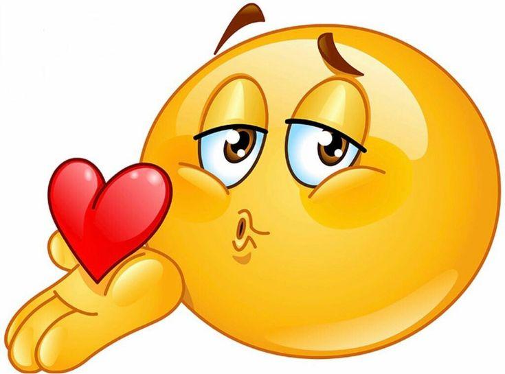Открытки, смайлики картинки веселые поцелуйчики