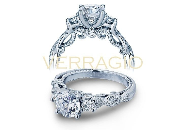 Verragio #INSIGNIA-7074R - INSIGNIA-7074R engagement ring from the Insignia Collection, featuring 0.50ct. of round brilliant-cut diamonds to enhance a round cut diamond center.