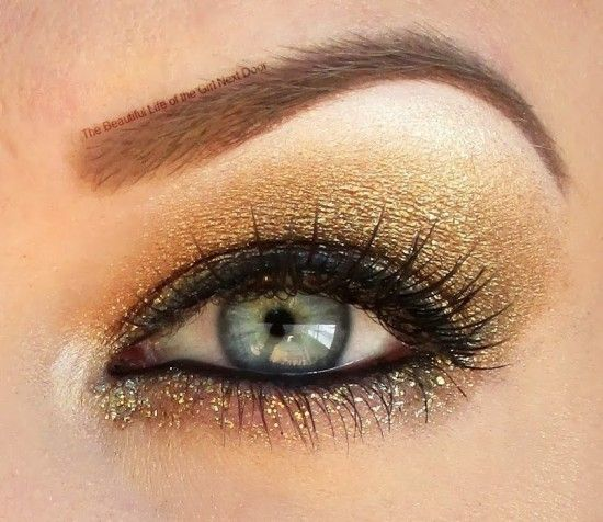 Gold for Childhood Cancer Awareness by starryskies214 on Makeup Geek