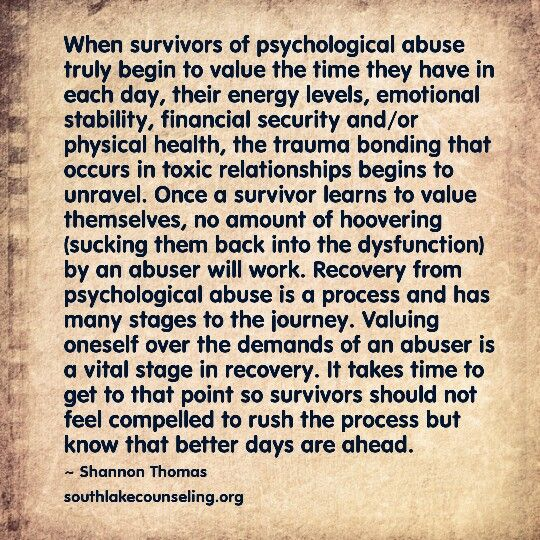 Dating an emotional abuse survivor