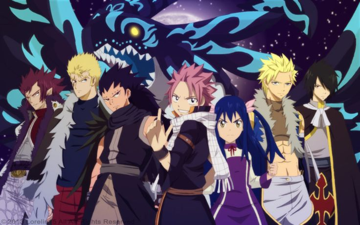 Wizard Dragon Drawings fairy tail | Fairy Tail Seven Dragon Slayers Vs Acnologia