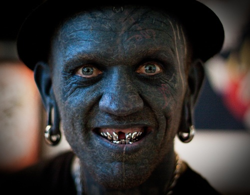 Lucky Diamond Rich is the world's most tattooed man