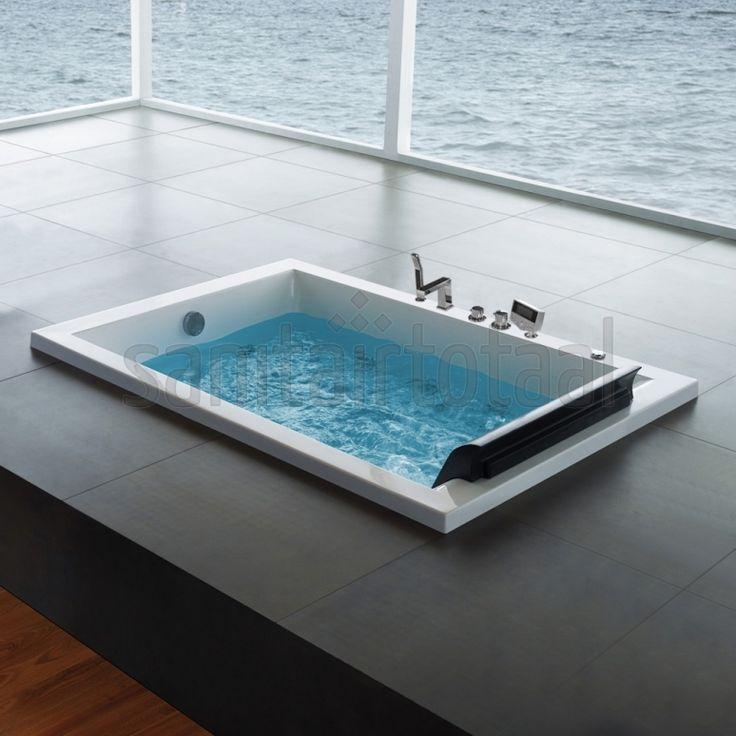 Meer dan 1000 idee n over whirlpoolbad op pinterest badkuipen vrijstaande badkuip en stoomcabines - Water badkamer model ...