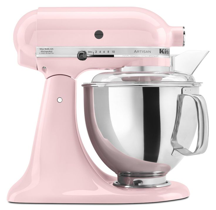 Pink KitchenAid Artisan Series Stand Mixer with Pouring Shield