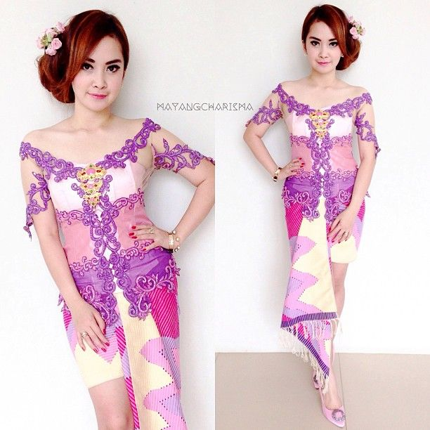pink purple kebaya