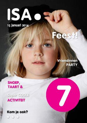 Uitnodiging Kinderfeestje - vervang door eigen foto- gemaakt door OTTI. Verkrijgbaar bij Kaartje2Go.