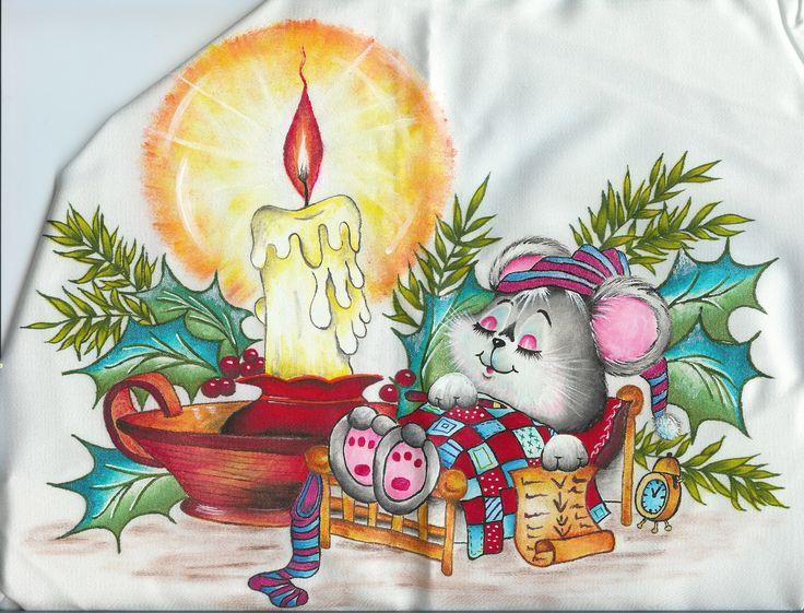 652 mejores im genes sobre pintura navide a en pinterest - Dibujos navidenos para pintar en tela ...