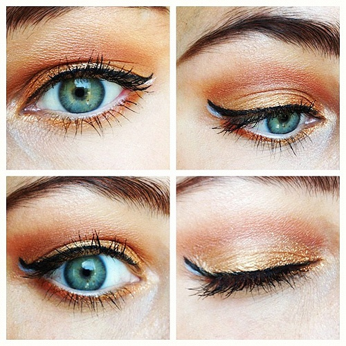 Queensday eye make-up #eotd #eotw #makeup #orange