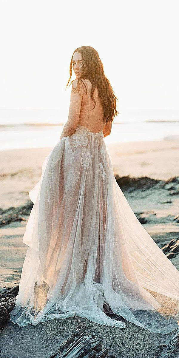 24 Beach Wedding Dresses Of Your Dream ❤ See more: http://www.weddingforward.com/beach-wedding-dresses/ #wedding #dresses #beach