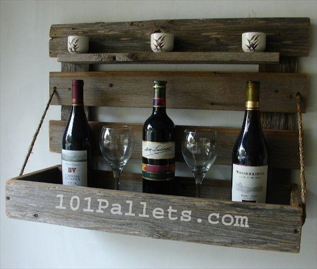 diy pallet wine rack - Google Search
