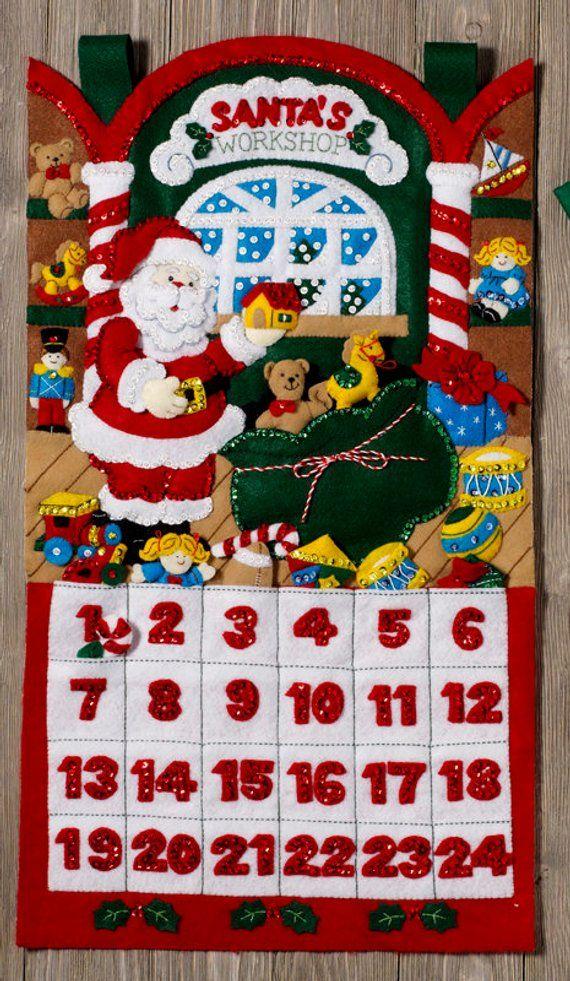 Toys Bucilla From Santa/'s Workshop Advent Calendar ~ Felt Christmas Kit #86833