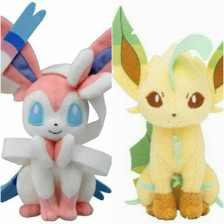Sylveon and leafeon