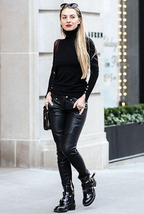 С чем носить кожаные брюки: 20 неожиданных модных идей для тебя   Журнал Cosmopolitan