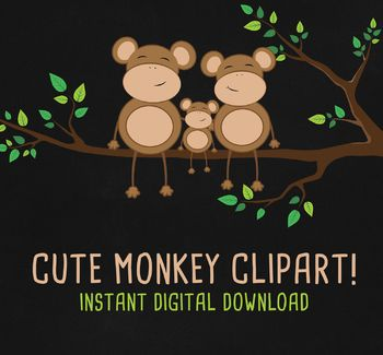 School Monkey Family Character ClipArt SetThis clip art pack features 22 images perfect for scrapbooking, cards, web design, graphic design, invitations, handmade craft items, printed paper items and so much more! YOU WILL RECEIVE- 22 images- each one is approximately (400-4000px) at the widest point- high quality 300dpi PNG files with transparent background INSTANT DOWNLOADOnce the payment is completed, the zip files becomes available to download.