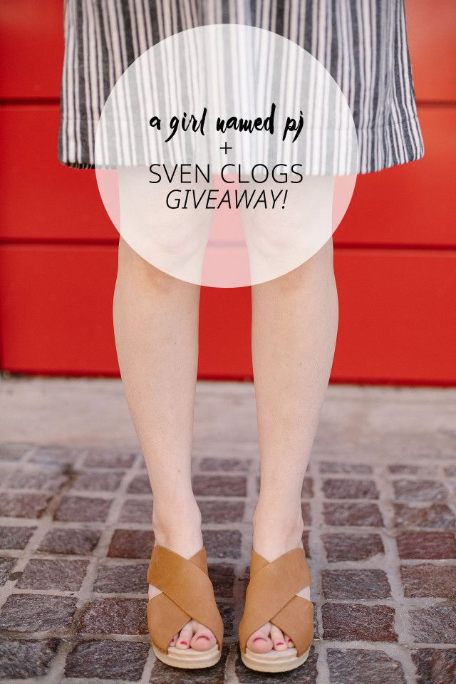 Enter to win the Sven Clogs giveaway on A Girl Named PJ and get a free pair of custom-made clogs,
