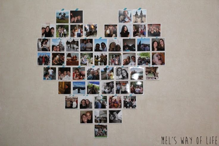D coration murale en forme de coeur partir de tirages photo carr s smartphoto vos for Poster decoration murale