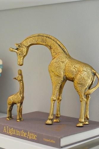 giraffesDecor Ideas, Baby Kids, Baby Giraffes, Kids Room, Giraffes Decor, Brass Giraffes, Bedrooms Kids, Baby Room, Baby Animals