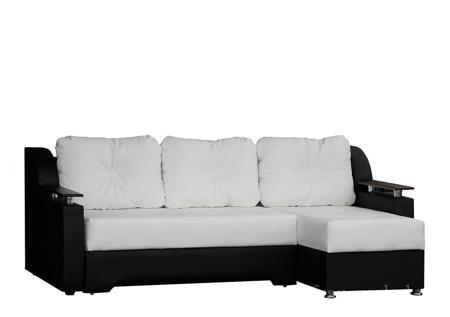 Диван угловой Сенатор У белый/черный  — 19890 руб.  —  Покупка углового дивана Сенатор порадует всю вашу семью, теперь вам будет где собраться вечерами и обсудить как прошел день. Кроме того, диван Сенатор можно использовать и как удобное спальное место если к вам приехали гости. Угловой диван Сенатор собранном виде имеет размер 235x150x85 см, спальное место составляет 147x197 см. В качестве стандартного наполнения ортопедический пружинный блок, который обеспечит равномерное распределение…