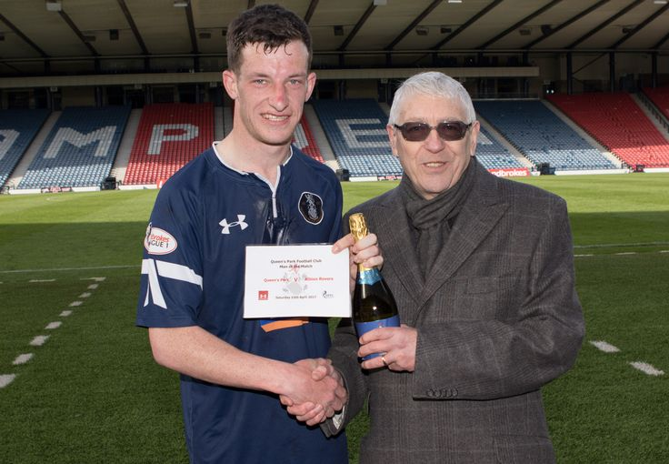Queen's Park's David Galt Man of the Match of the Ladbrokes League One game between Queen's Park and Albion Rovers