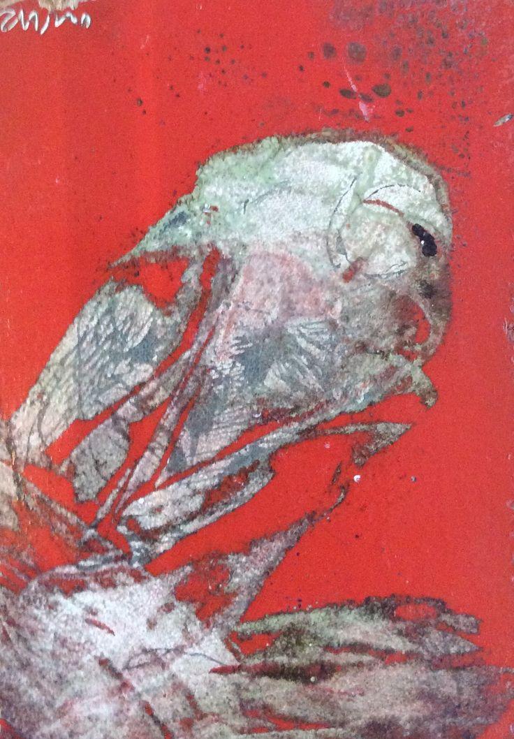 Milan Vavro / oil paint/. Sad bird
