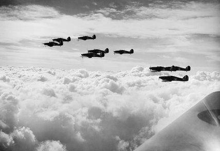 Hawker Hurricane Mk Is of No. 85 Squadron RAF, October 1940.