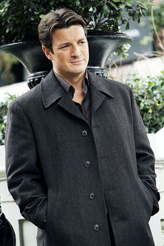 Nathan Fillion as Castle....he really IS ruggedly handsome.//I still like him best as Captain Mal