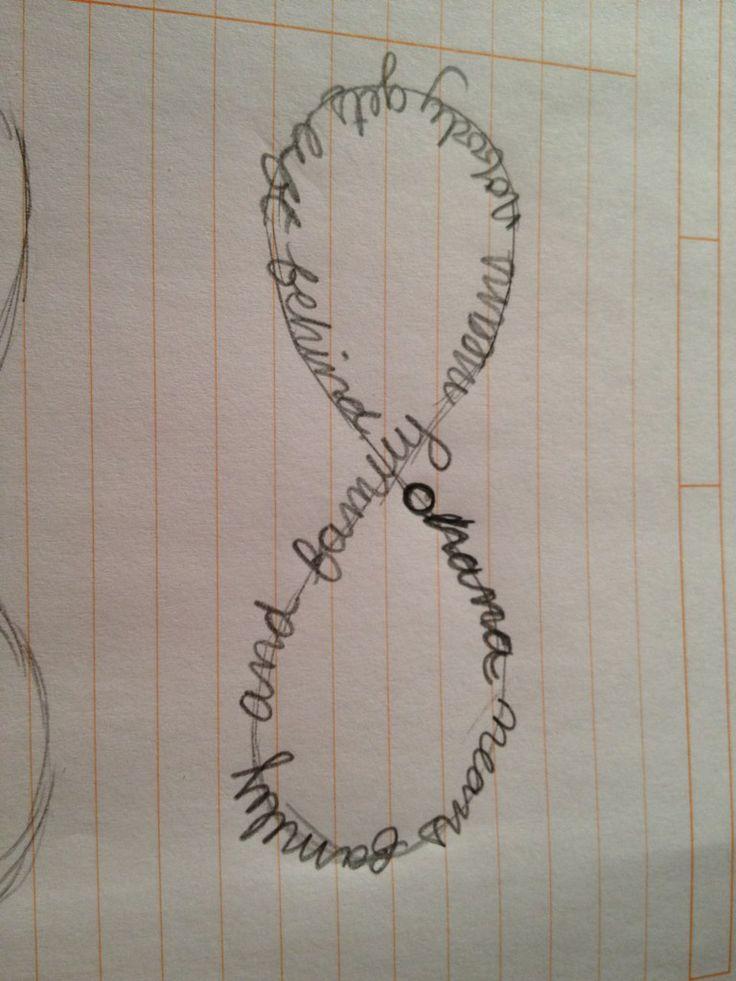 Ohana Means Family Quote Tattoo: Ohana Infinity Tattoo