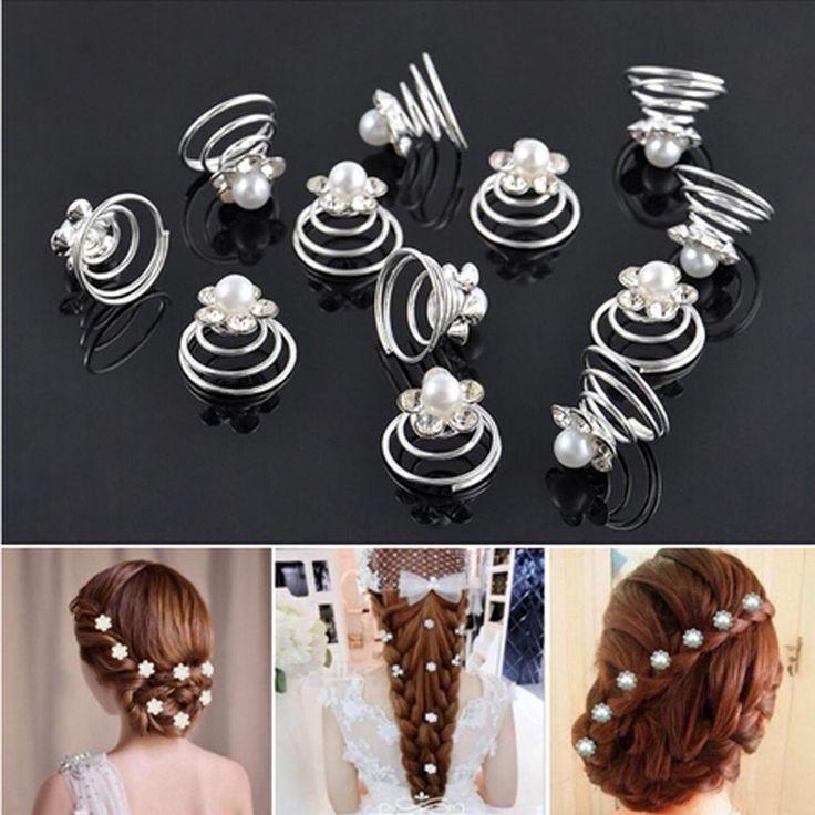 Hurtownie 12 sztuk Księżniczka Kryształ Rhinestone Flower Pearl Spinki Do Włosów Spinki Do Włosów dla Kobiet Ślubu Panna Młoda Akcesoria Do Włosów