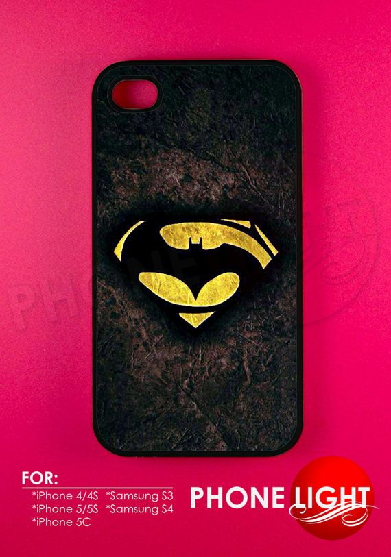 Superman Vs Batman Logo Phone Case  official by PHONELIGHT on Etsy, $14.99