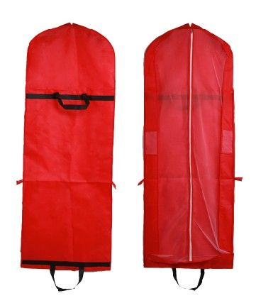 Red Thicken & foldable with handle,easy carried, measured 150*58*8 cm bridal gown & bridesmaids dress garment bags