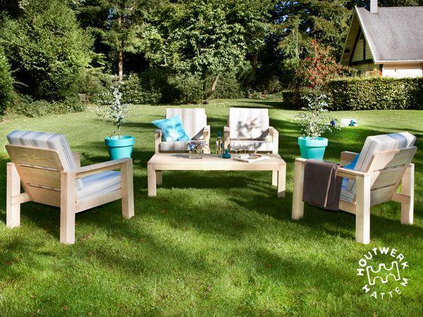 Buitenmeubilair • Houtwerk Hattem: houten design meubels op maat