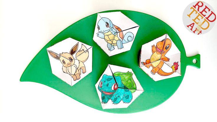 Pokemon Evolução DIY - Brinquedos de Papel - Kaleidocycle - Printables gratuitos - obtê-los em cores ou em balck e br a cor você mesmo!