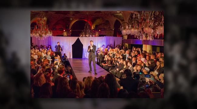 Hipster event arranged the fashion show Brides in Silhouettes at Café Opera in Stockholm 2014. Photography by John Hellström.