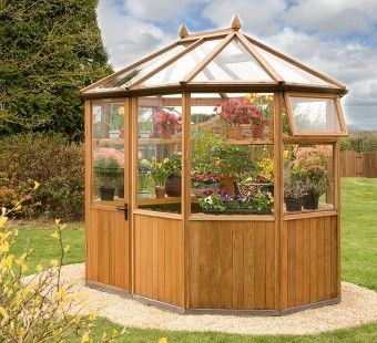 Best 25 wooden greenhouses ideas on pinterest lean to for Octagonal greenhouse plans