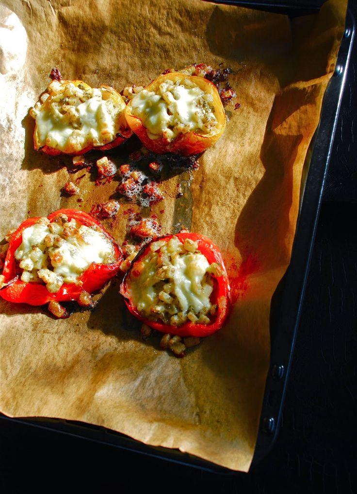 gevulde paprika met koolrabi
