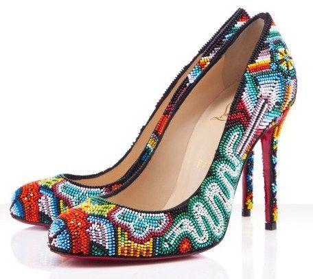 Christian Louboutin, zapatos de inspiraci??n huichol / Christian ...