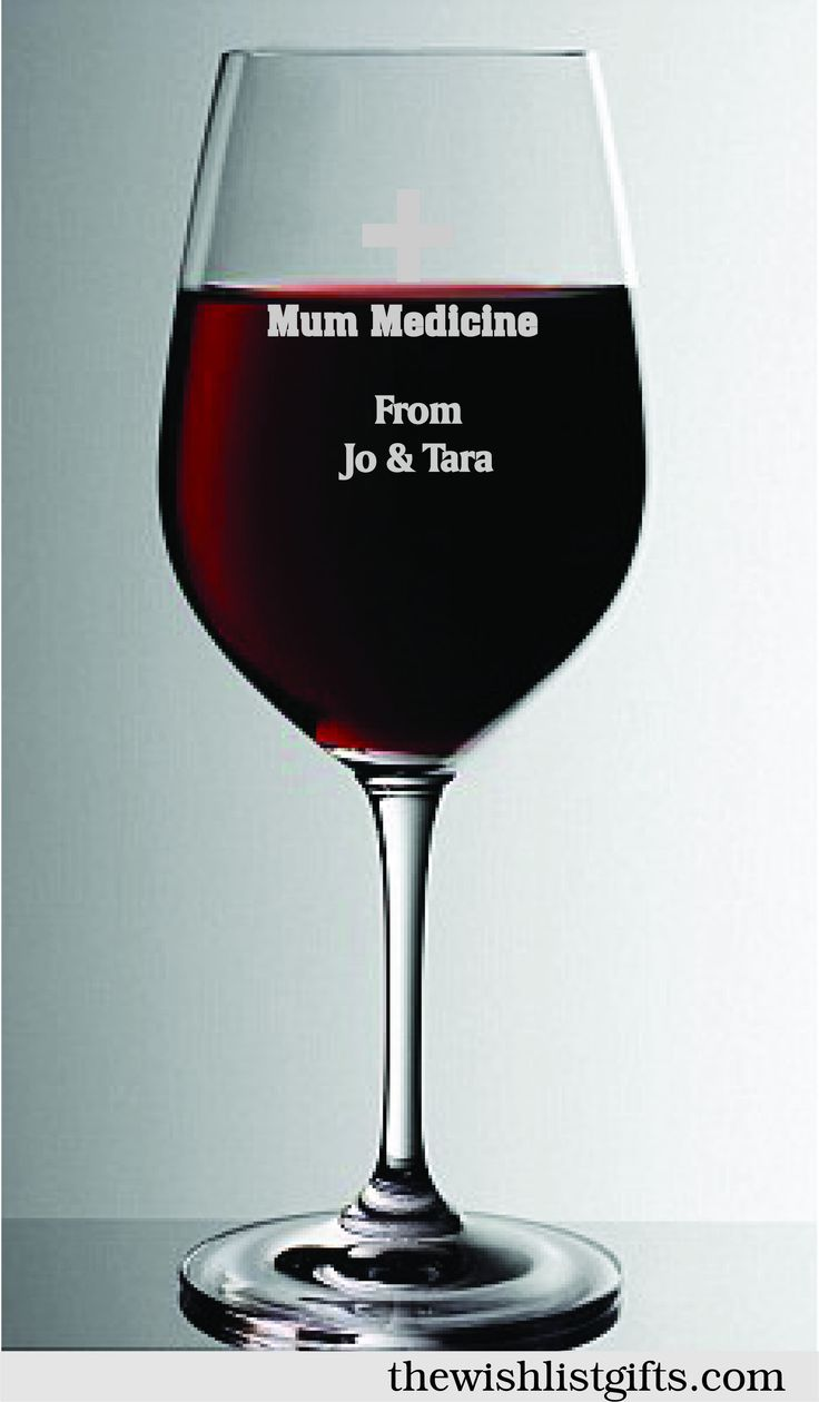 Mum Medicine glass...well sometimes mums just need something to take the edge off and a glass of wine can do the trick. This fun glass can be personalised with your own message making it a thoughtful gift for the hard working well deserving mum!
