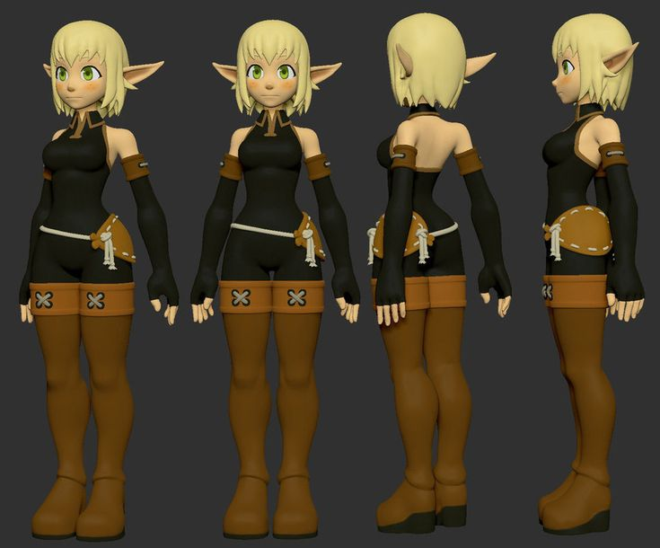Anime Characters 3d Models : Best refference sheets for d models images on