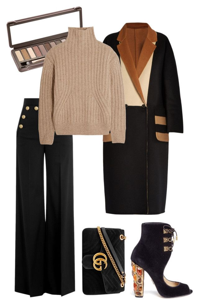 """""""Color coordination"""" by trend-anonymous on Polyvore featuring RED Valentino, Paul Andrew, Urban Decay, MaxMara, Totême, Gucci, fashionset, polyvoreeditorial, officeOutfit and falltrend"""