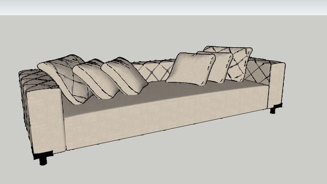 Sofá Bandeira 3L 280X95X87 - 3D Warehouse
