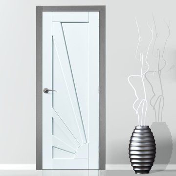 JB Kind Calypso Aurora White Primed Panel Door