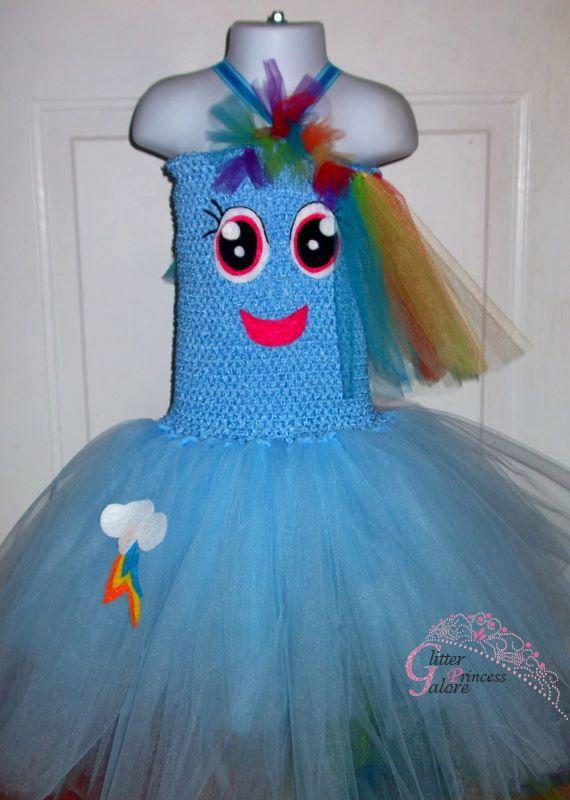 Rainbow Dash inspired by My Little Pony tutu costume dress