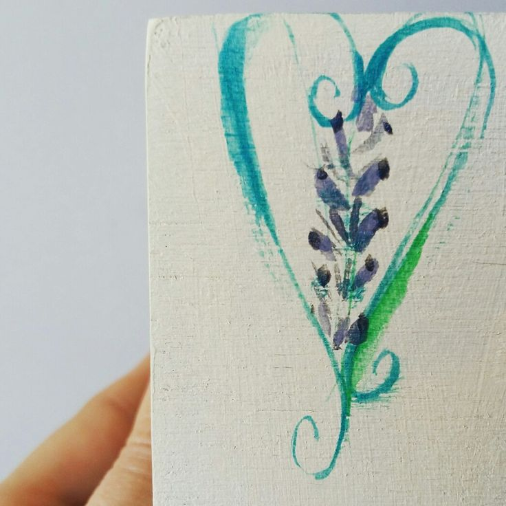 Painting on wood #lavander #greenheart #earringstorragebox