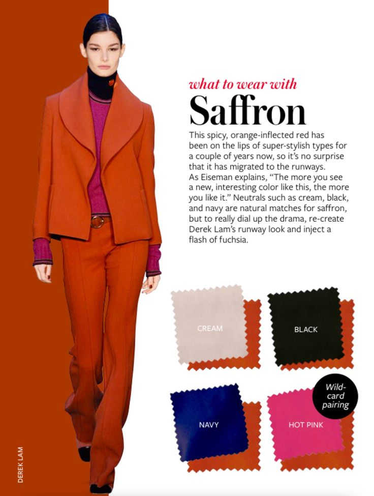 What to wear with SAFFRON