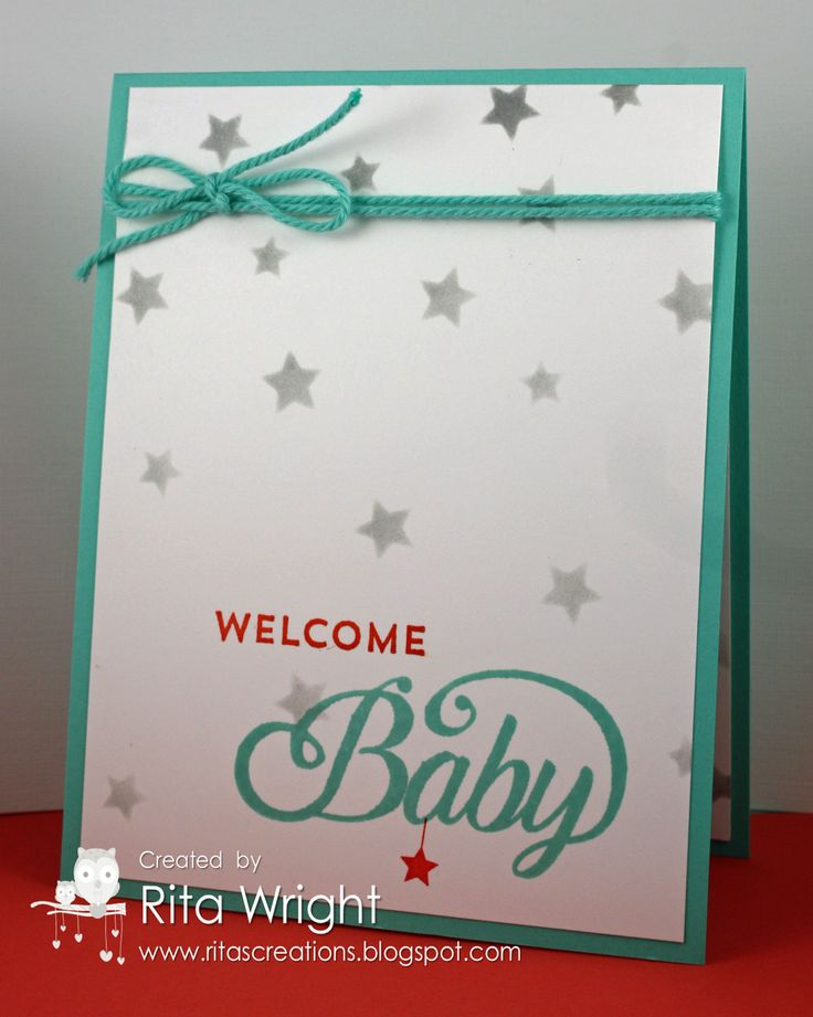 Rita's Creations: Stampin' Up! Celebrate Baby, we love the simplicity of this design: Christmas Cards, Cards Ideas, Cards Baby, Baby Cards Show, Baby Cards Stamps Up, Stampin Up Celebrity Baby, Paper Crafts, Baby Shower Cards, Papercraft Su Cricut