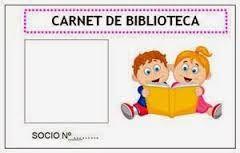 Resultado de imagen de carnet de biblioteca para niños